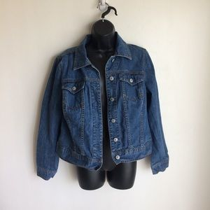 Liz Claiborne Blue Denim Jean Jacket Size Medium